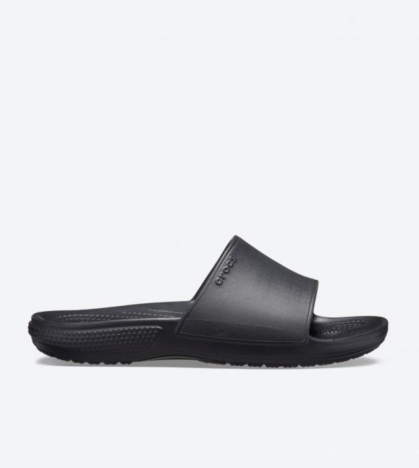 Classic Ii Broad Strap Round Toe Slides - Black 205732-001