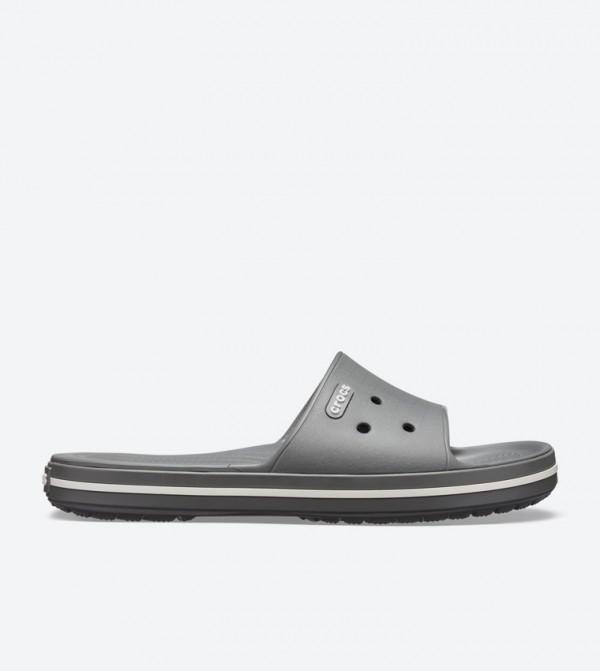 Crocband Iii Round Toe Slides - Grey 205733-07I