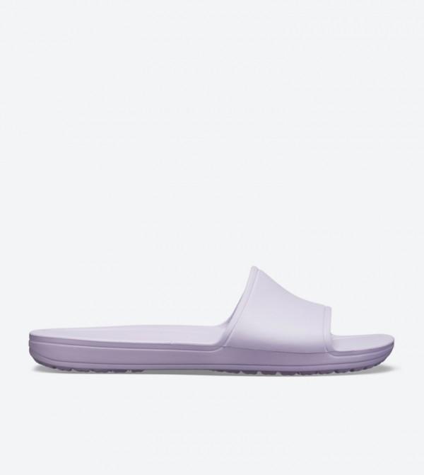 Sloane Broad Strap Round Toe Slides - Purple 205742-530