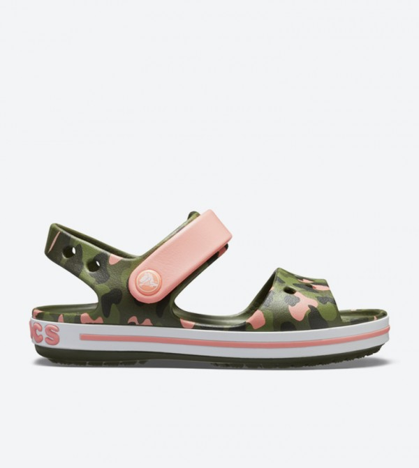 Crocband Seasonal Graphic Sandals - Green 205765-737