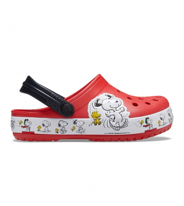 FL Snoopy Wood Stock Clog - Red