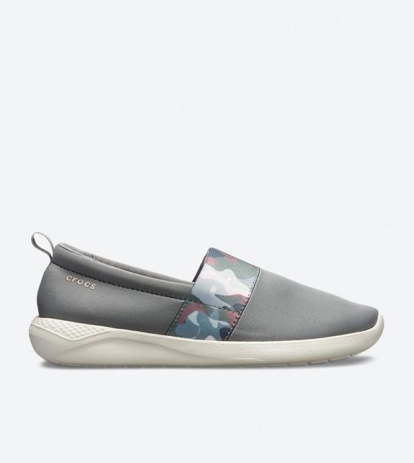 Literide Graphic Slip-Ons - Grey 205374-0E9