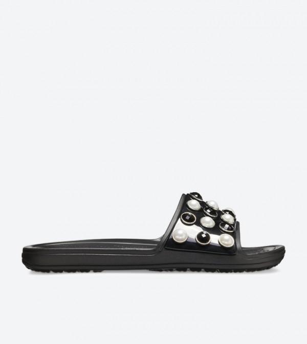 Women's Crocs Sloane Timeless Clash Pearls Slide